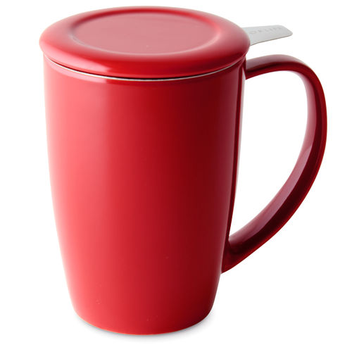 Tall Tea Mug, red