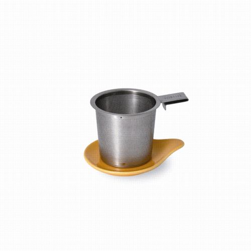 Tea Infuser & dish set, mandarin