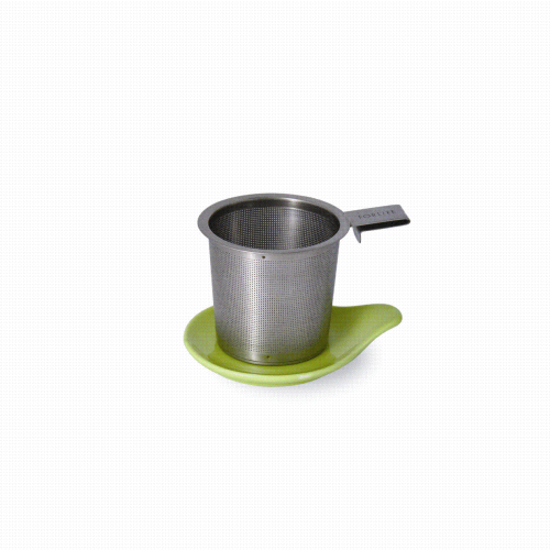 Tea Infuser & dish set, lime