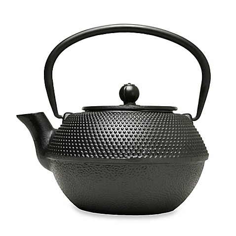 Hammered 36 oz Cast Iron Teapot - Black