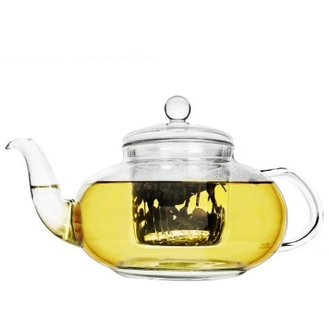 Daisy 40 oz Glass Teapot